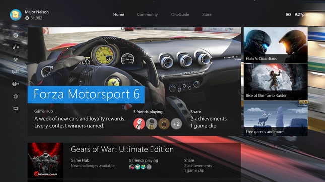 New Xbox One UI and back-compat launching Nov 12