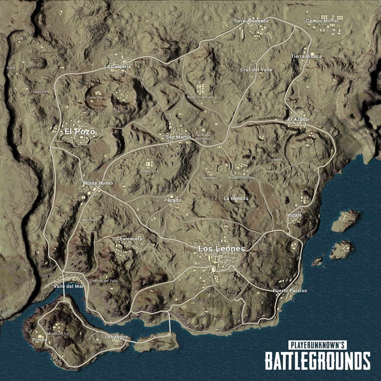 Here's a detailed look at PUBG's new map